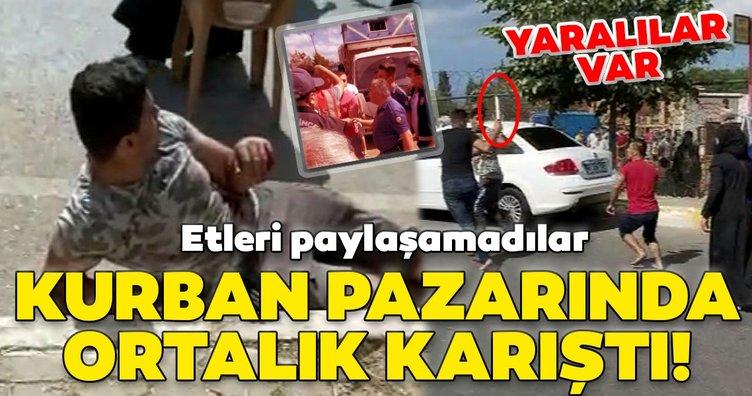 SON DAKİKA! Yer İstanbul! Etleri paylaşamayınca ortalık karıştı! Yaralılar var...