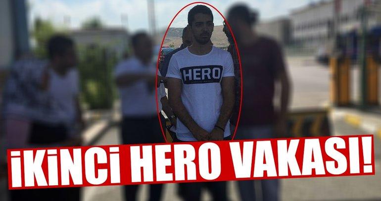 Hero yazılı tişörtle duruşma salonuna girmek istedi