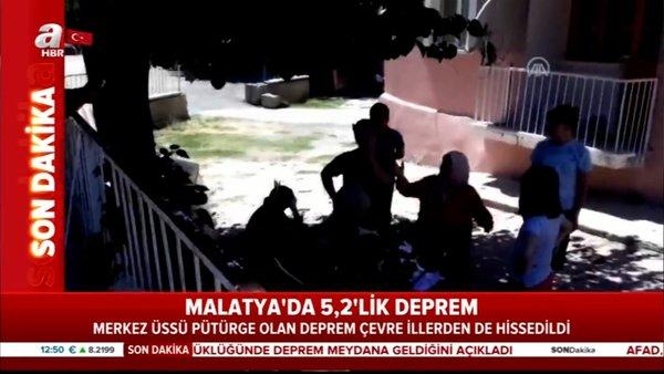 Son Dakika Haberi: Malatya'da 5,2 büyüklüğünde deprem! Sarsıntı anı ilk görüntüler... | Video