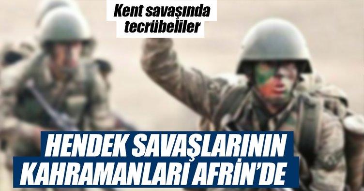Hendek kahramanları Afrin'de