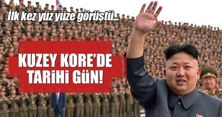 Kim Jong Un ilk defa Güney Koreli yetkililerle yüz yüze görüştü