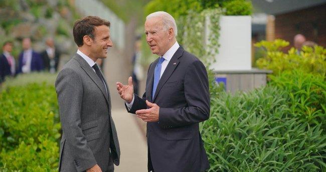 G7 Zirvesi'nde dikkat çeken anlar! Biden-Macron yakınlaşması yankı uyandırdı