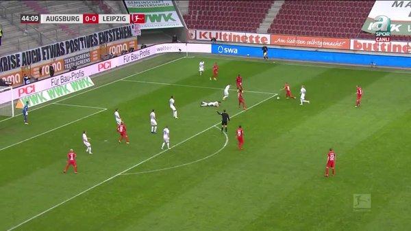 GOL | Augsburg 0-1 RB Leipzig