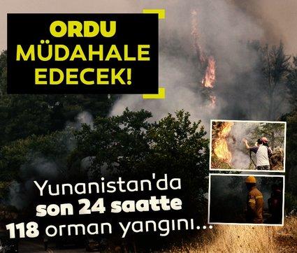Yunanistan'da son 24 saatte 118 orman yangını: Ordu müdahale edecek