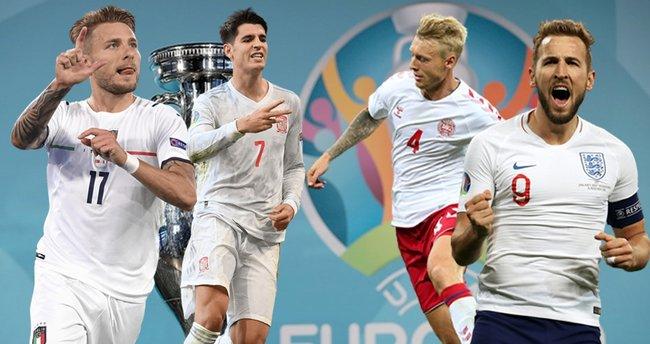 EURO 2020'de yarı final zamanı! Devler final için kapışacak