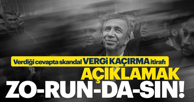 AK Parti'den flaş Mansur Yavaş açıklaması: Biz taraf değiliz, Sen soruları cevapla!