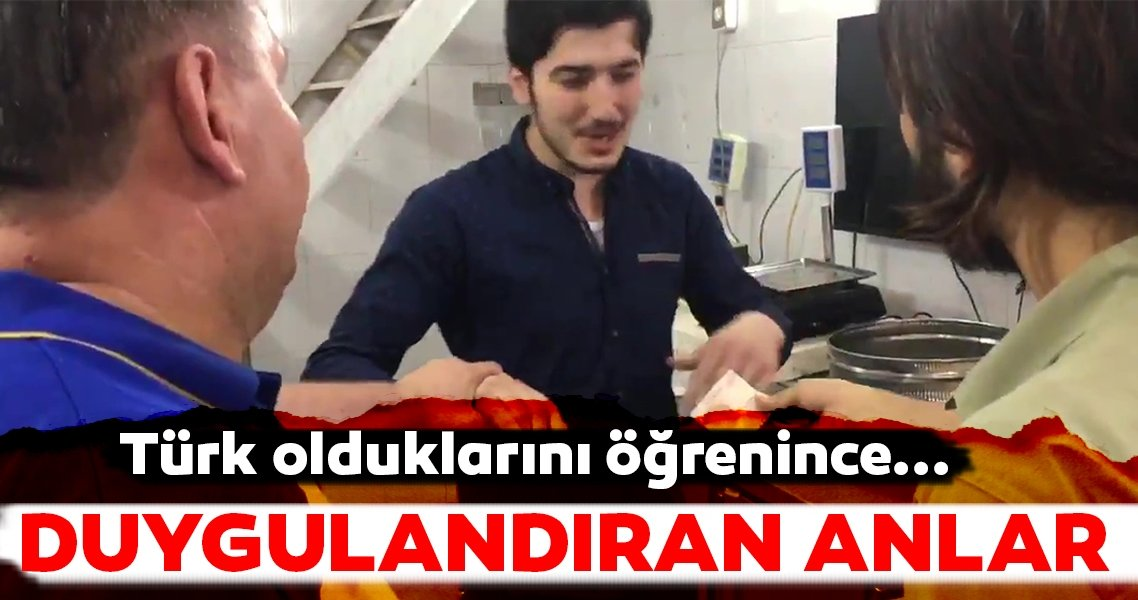 Azez'de duygulandıran anlar!... Türk olduklarını öğrenince...