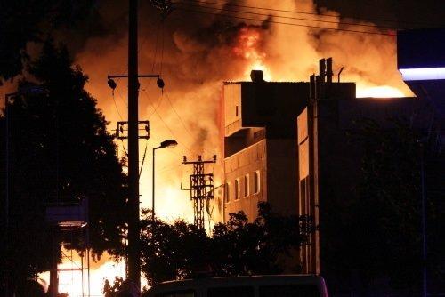 Başakşehir'de büyük yangın