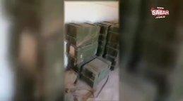 Terör örgütü PKK/PYD tarafından depo olarak kullanılan okulda anti tank mayınları bulundu