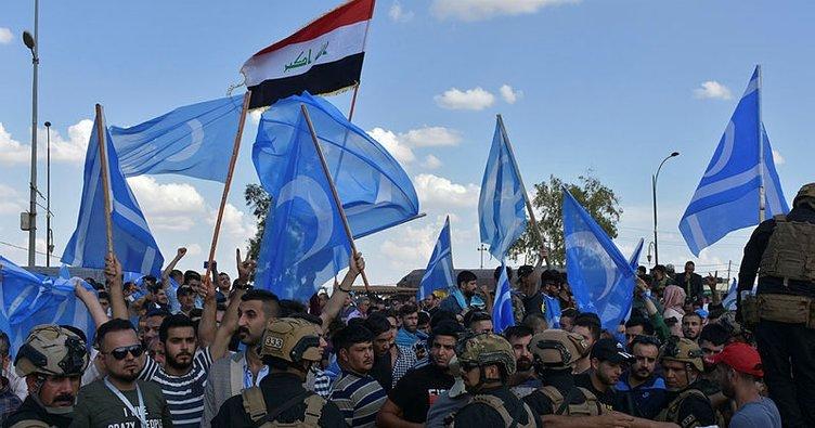Kerkük'teki Türkmenlerden seçim komisyonunun bağımsız kalması için gösteri