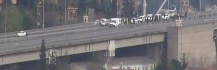 Boğaziçi Köprüsü şüpheli araç nedeniye trafiğe kapatıldı