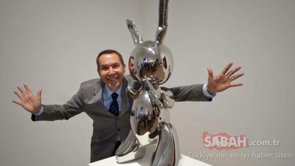 ABD'li heykeltraş Jeff Koons'un 'Tavşan' heykeli rekor fiyata satıldı