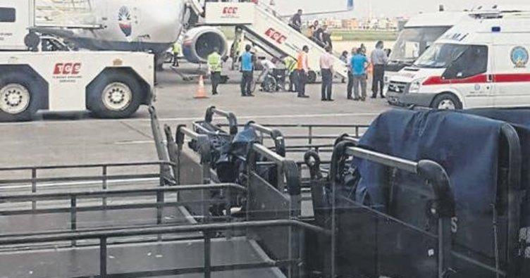Kabin basıncı düşen uçak sorunsuz indi