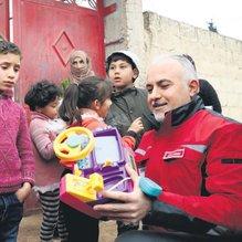 Afrin kırsalında Türkiye şefkati