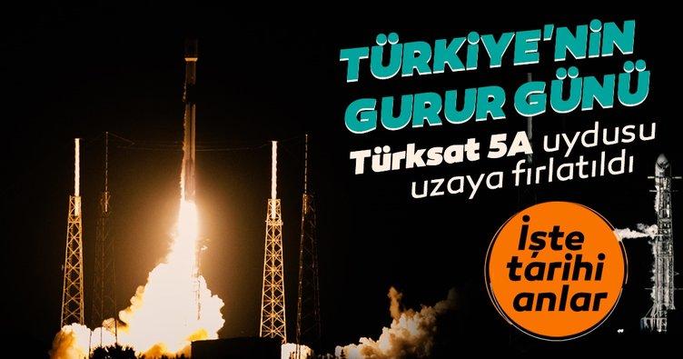 SON DAKİKA HABERLER: Tarihi anlar! Türksat 5A uydusu fırlatıldı! Türkiye'nin yeni nesil Türksat 5A uydusu uzayda!
