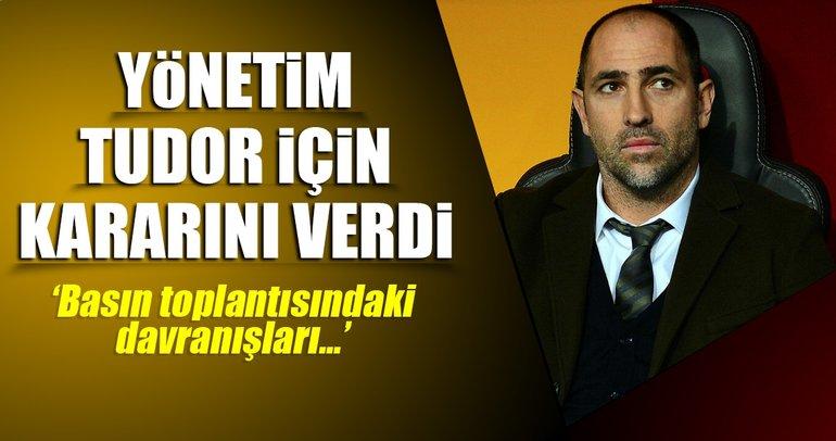 Galatasaray'da yönetim Tudor'un arkasında