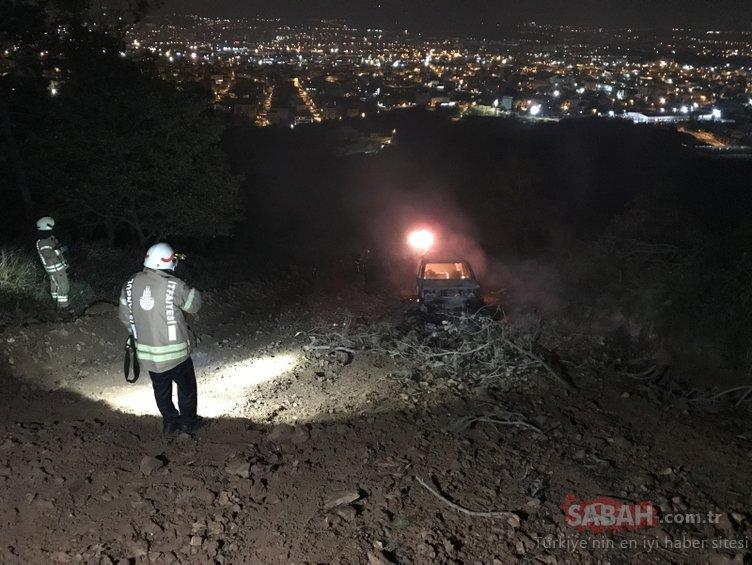 Ataşehir'de ormanlık alandan gelen patlama sesi sonrası alevler yükseldi