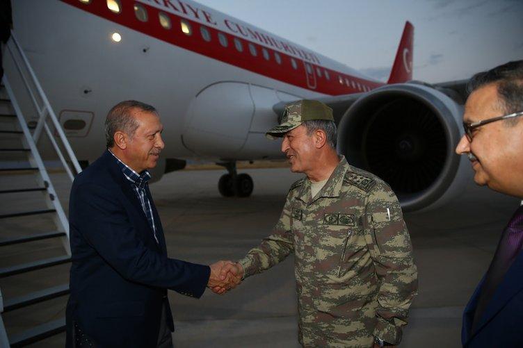 Cumhurbaşkanı Erdoğan, Cizre'de askerlerle birlikte iftar yaptı