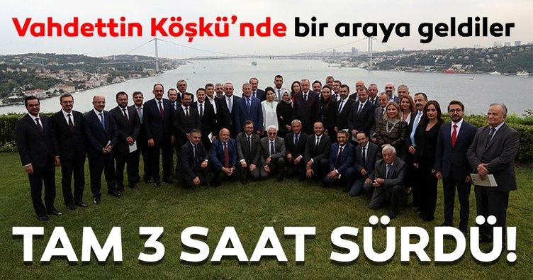 Cumhurbaşkanı Erdoğan'ın genel yayın yönetmenleriyle bir araya geldiği toplantı sona erdi