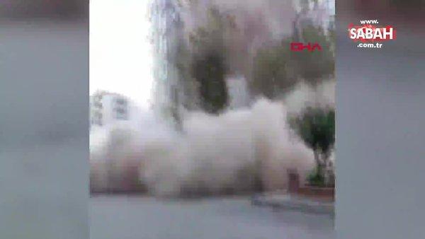 İzmir'de deprem 6,6'lık depremde 8 katlı binanın yıkılma anı kamerada | Video