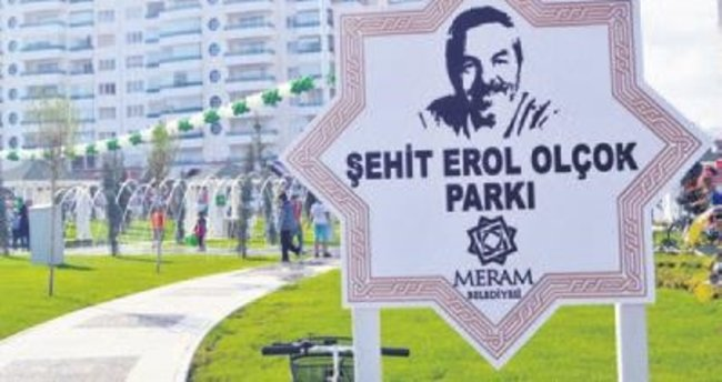 Olçok'un ismi Konya'da parka verildi