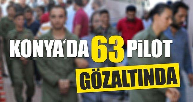 Konya'da toplam 63 Pilot gözaltına alındı