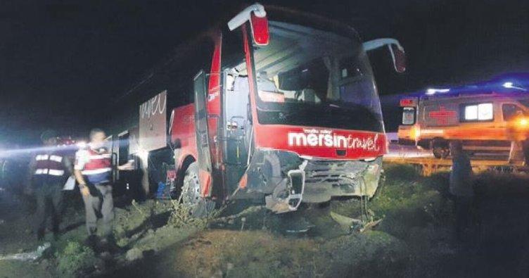 Ankara'da otobüs yoldan çıktı: 9 yaralı