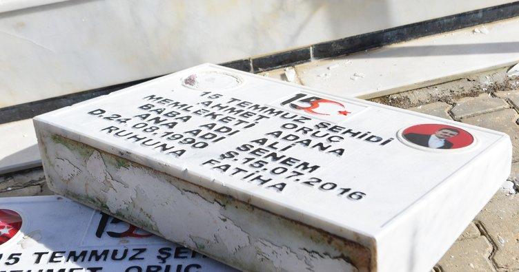 Son dakika haberi: 15 Temmuz şehidiikizpolislerin mezarına saldırı
