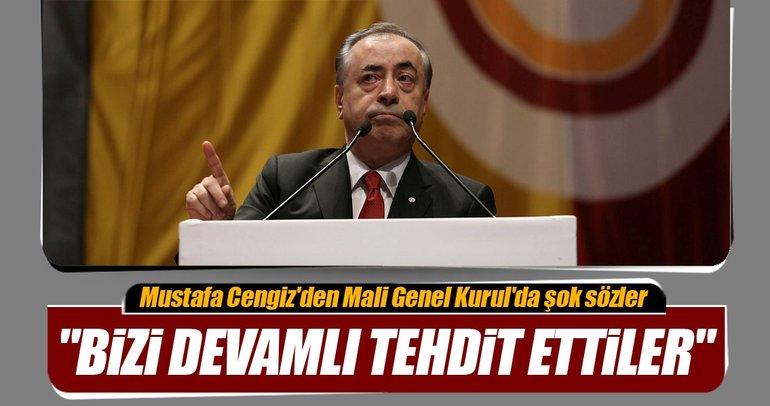 Mustafa Cengiz'den Mali Genel Kurul'da şok sözler