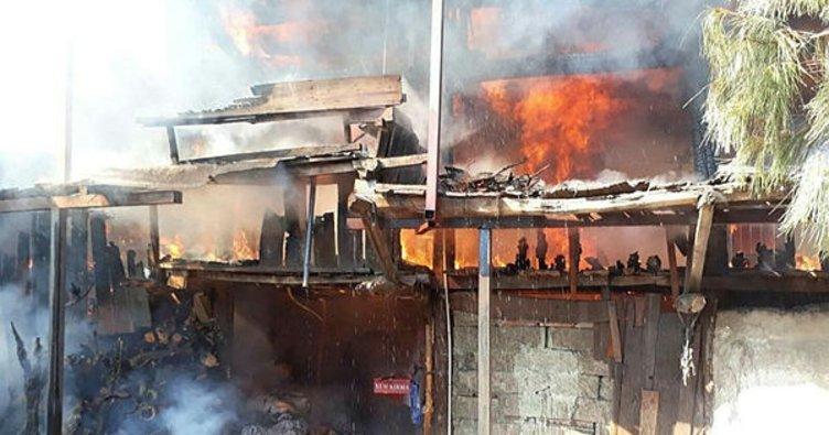 Denizli'de yangın paniğe neden oldu