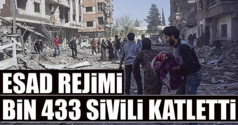 Esad, Doğu Guta'da bin 433 sivili katletti