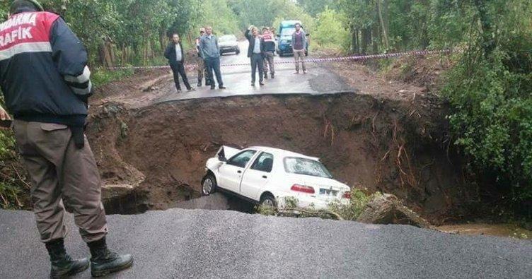 Köprü çöktü, otomobil ırmağa uçtu
