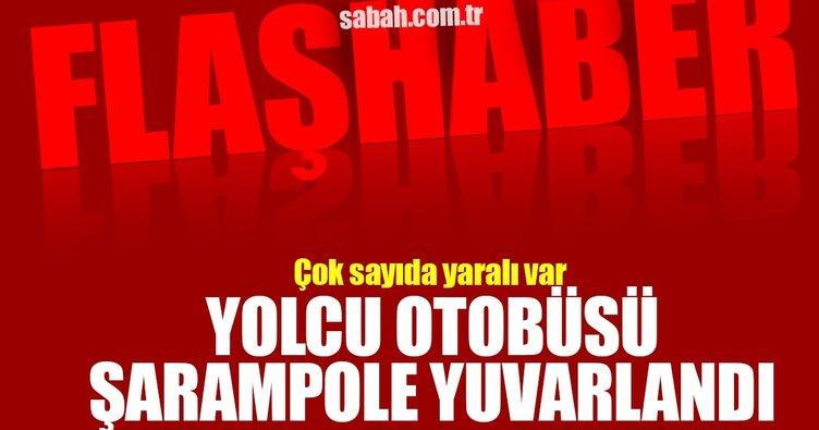 Son dakika: Diyarbakır-Şanlıurfa yolunda yolcu otobüsü şarampole devrildi