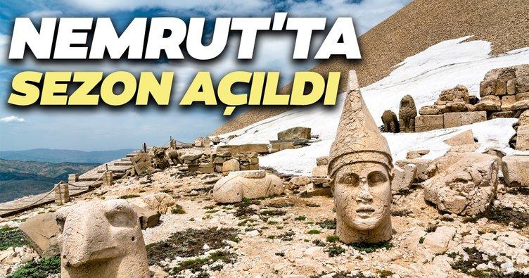 Dünya mirası Nemrut'ta turizm sezonu açıldı