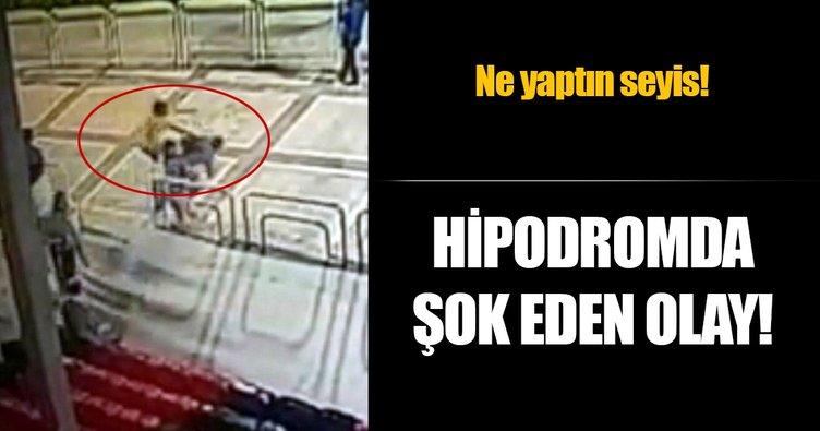 Adana Hipodromu'nda uçan tekmeli saldırı