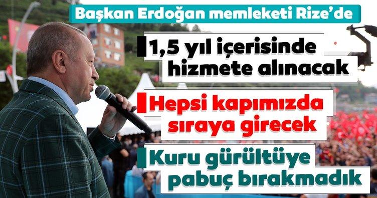 Başkan Erdoğan Rize'de müjdeyi verdi: Rize-Artvin Havalimanı'nın 1,5 yıl içerisinde hizmete girecek