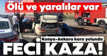 Son dakika: Konya-Ankara kara yolununda feci kaza! Ölü ve yaralılar var