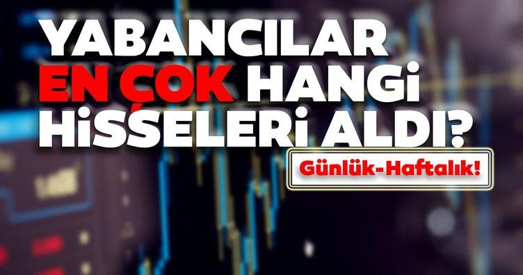 Borsa İstanbul'da günlük-haftalık yabancı payları 16/09/2020