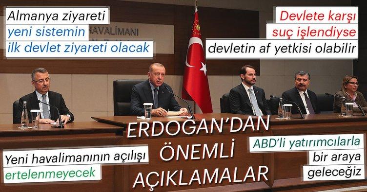 Son Dakika: Başkan Erdoğan'dan ABD ziyaret öncesi önemli açıklamalar!