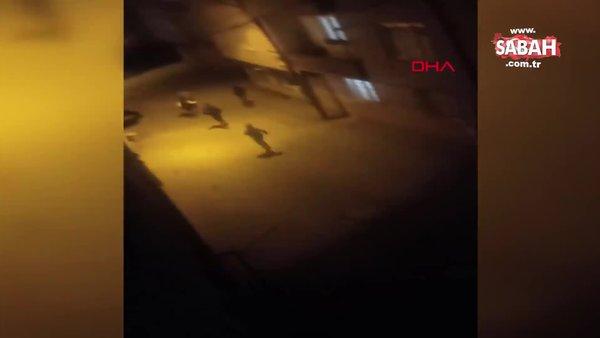 Bursa'da sokağa çıkma kısıtlamasına uymayan gençlere polis şoku kamerada | Video