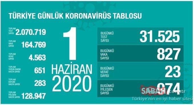 SON DAKİKA HABERİ -  Türkiye corona virüsü ölü ve vaka sayısı kaç oldu? 2 Haziran 2020 Salı Türkiye corona virüsü ölü, vaka ve iyileşen hasta sayısı son durum ne?