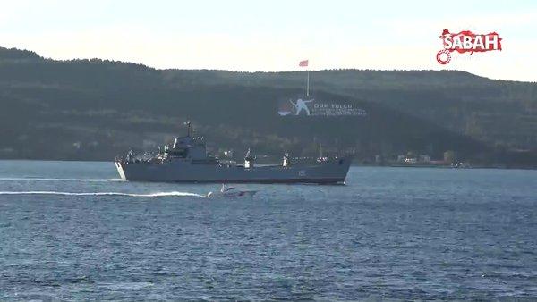 Rus savaş gemisi 'Saratov' Çanakkale Boğazı'ndan geçti | Video