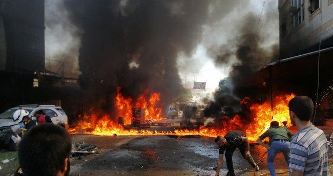 SON DAKİKA: Cerablus'ta bombalı terör saldırıları