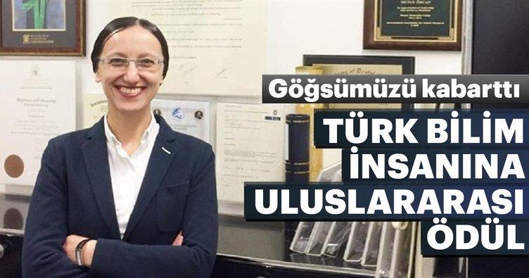 Türk bilim insanı Mutlu Özcan'a uluslararası ödül