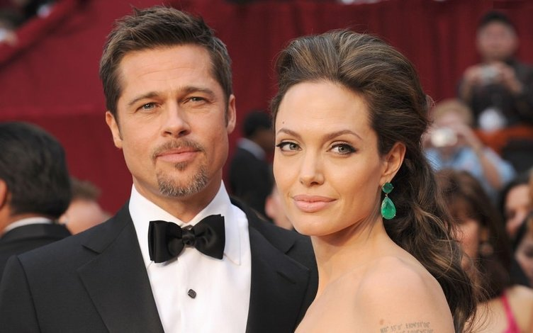 Angelina Jolie ve Brad Pitt'in en güzel kareleri