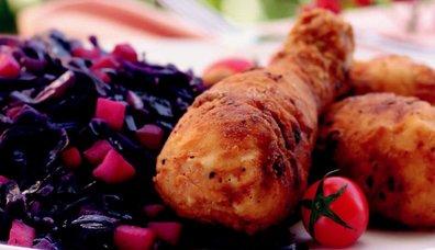 Kırmızı lahanalı Tavuk Baget