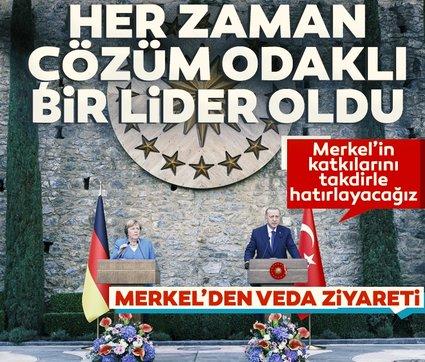 Başkan Erdoğan ve Merkel'den basın toplantısı: Her zaman çözüm odaklı bir lider oldu