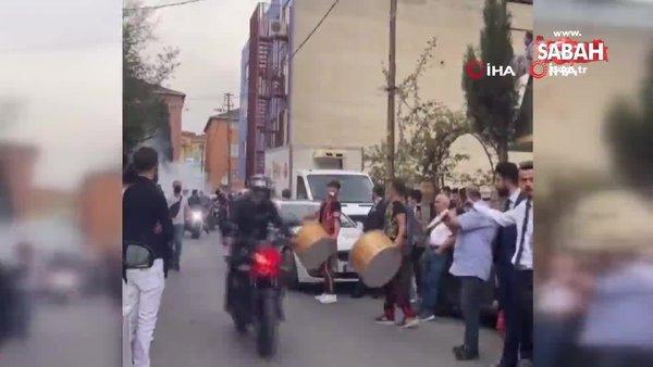 İstanbul'da patinajı ve makaslı düğün konvoyu terörü kamerada | Video