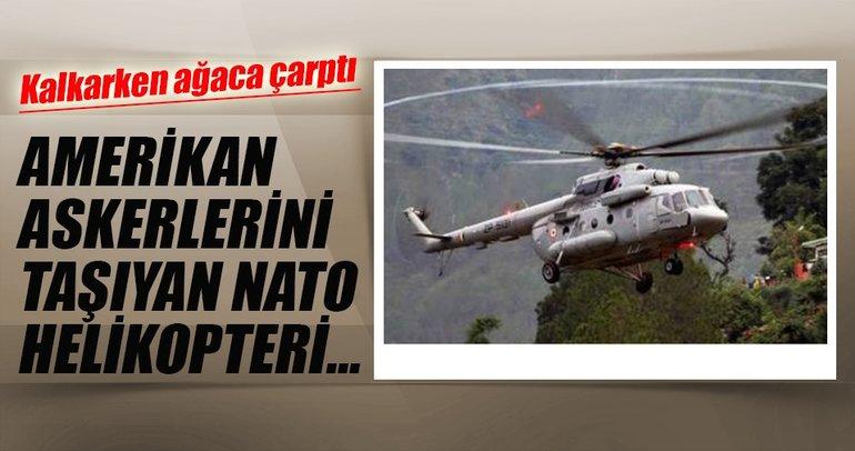Afganistan'da NATO helikopteri düştü