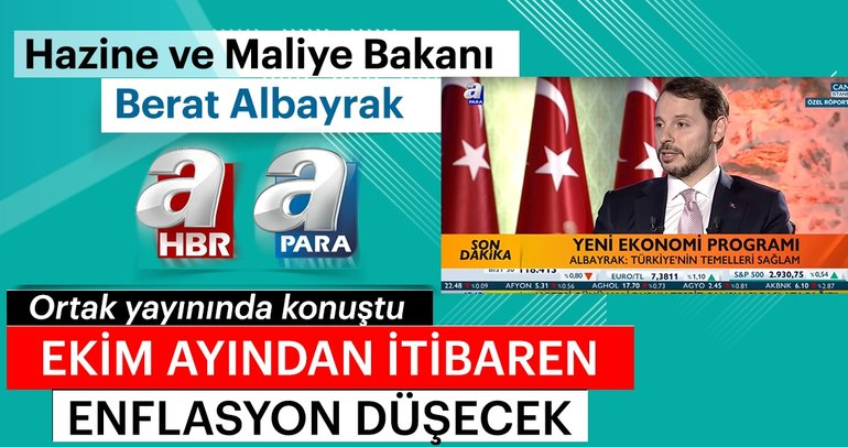 Bakan Albayrak'tan flaş enflasyon açıklaması!